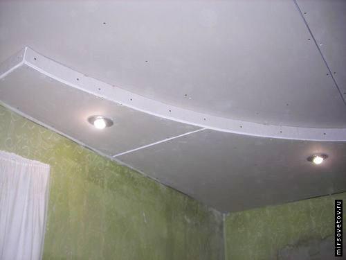 Короб из гипсокартона на потолке