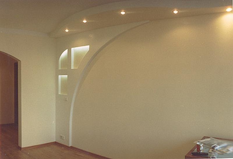 Декоративные стены из гипсокартона фото